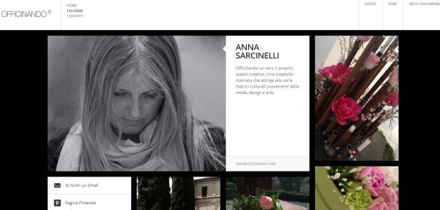 Officinando di Anna Sarcinelli - realizzazione sito web